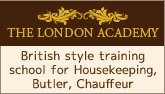 British style training school for Housekeeping, Butler, Chauffeur